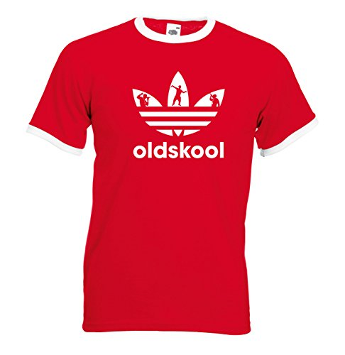 Mens Old Skool Adidas Ringer T Shirt. 4 colours - S to XXL
