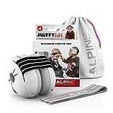 Alpine Muffy Baby Gehörschutz - Gehörschutz für Babys und Kleinkinder bis 36 Monate - Verhindert Gehörschäden - Verbessert den Schlaf unterwegs - Bequeme Passform - Schwarz