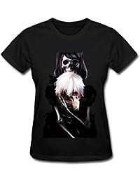 maikeer Women's Tokyo Ghoul Kaneki Ken Skull Mask Art T Shirt