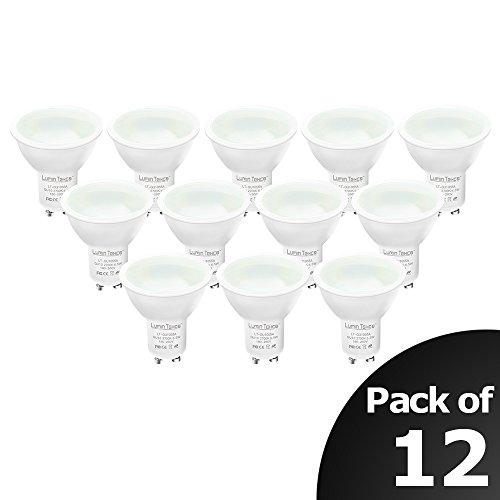 Lumin-Tekco-GU10-LED-bombillasLED-regulable-55W-2700k-blanco-calido420-lmenes12-unidades-Clase-de-eficiencia-energtica-A