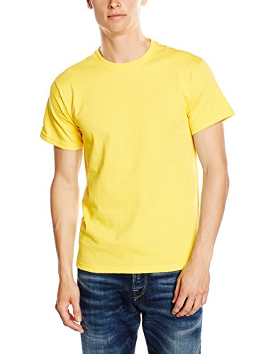 Fruit of the loom ss003m, t-shirt uomo, giallo, x-large