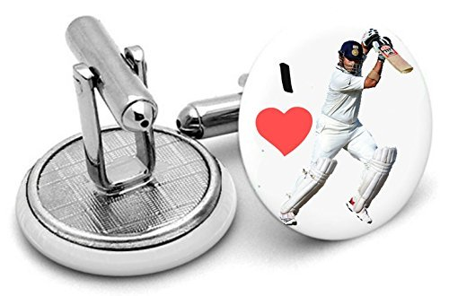 I Love Cricket boutons de manchette Boutons de manchette pour homme-Livré dans pochette cadeau