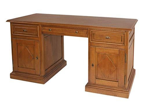 Schreibtisch Computertisch Bürotisch Grande Holzfront Rautendesign Pinie Havanna