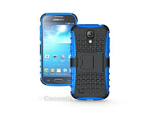 Galaxy S4 Mini Funda, Cocomii Grenade Armor NEW [Heavy Duty] Premium Tactical Grip Kickstand Shockproof Hard Bumper Shell [Military Defender] Full Body Dual Layer Rugged Cover Case Carcasa Samsung I9190 I9195 (Blue)