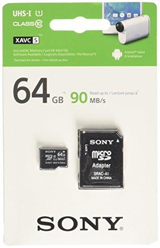 Secure Digital-karten-adapter (Sony 4GB SDHC Secure Digital Flash Speicherkarte _ P schwarz 64 GB)