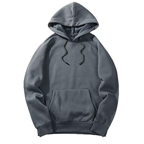 serliyHerren Leichter T-Shirt-Pullover mit Kapuze und Struktur Hoodie Sportlicher Kapuzenpullover, Schnelltrocknendes Sweatshirt für Männer mit Loser Passform