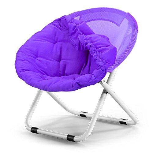 Accueil/Tabouret pour meubles de loisirs intérie Grande chaise de lune pliante adulte Chaise de soleil Toile Détachable Canapé paresseux Rond Détail inclinable portable (couleur multiple) durable pa