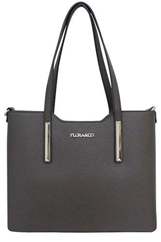 Flora & Co (Farbauswahl) Damen Handtasche PU-Leder zierliche Schultertasche Tasche (Handtasche Zierliche)
