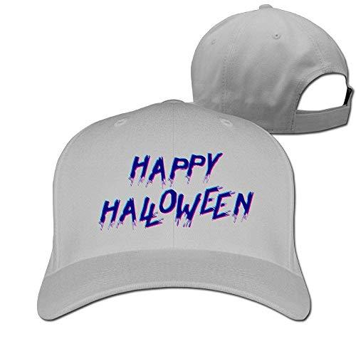 dfhdshsd Classic Cotton Hat Adjustable Plain Cap, Happy Halloween Plain Baseball Cap Adjustable Size Curved Visor Hat