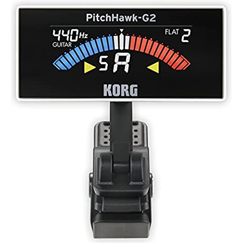 KORG AW-3G2-WH PitchHawk-G2 Clip-On Tuner (Guitar/Bass), white - Bass Tuner