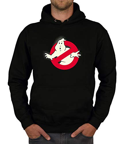 Shirtdepartment - Herren Hoodie - Glow - Ghost Busters schwarz-Glow 4XL (Ghostbusters Halloween-kostüm Slimer)