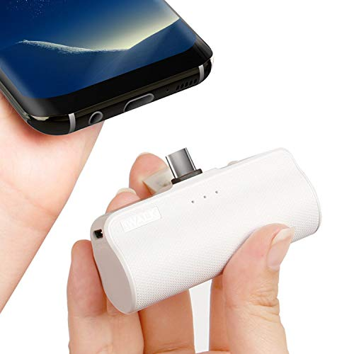 iWALK Power Bank Tragbares Ladegerät Errichtet im USB Typ C Externer Akku Kompakt Handy Ladegerät für Samsung Galaxy Note8 S8 S9 Huawei Sony LG Lumia