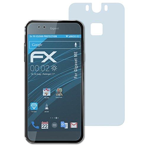 atFolix Schutzfolie kompatibel mit Gigaset ME Folie, ultraklare FX Bildschirmschutzfolie (3er Set)