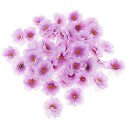 sichblüte Kunstblume DIY Blumenstrauß Blumenköpfe Hochzeitsdeko, Farbwahl - Lila ()
