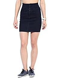 ONLY Women's Pencil Fit Cotton Midi Skirt