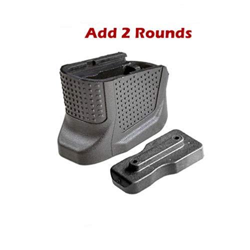 Etophigh Ersatz Magazinerweiterung Basisplatte Plus Basis Verlängerung Pistolengriff Zubehör für 9mm 6. Pistole +2 Rd für Glock 43 hinzufügen (Glock Paintball-pistolen)