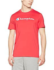 Champion T-Shirt Camiseta, Hombre, Rojo, Medium