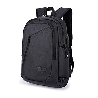 Anti-Diebstahl-Rucksack, 35L Daypack Rucksack mit USB-Ladeanschluss Kopfhörer-Schnittstelle und Passwort-Sperre, täglich wasserdichter Rucksack, Laptop-Rucksack für 12-16 Zoll Laptop (Schwarz)