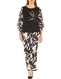 e86683f4d039 Completo Donna Elegante Maglia e Pantalone Fantasia Taglia Morbida