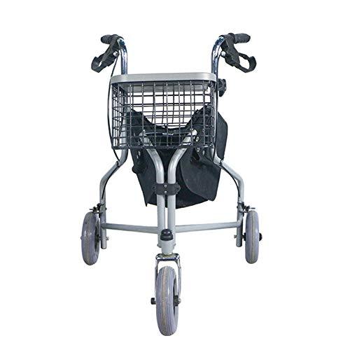 SXFYMWY 3 Räder, die das leichte höhenverstellbare Gehgestell zusammenklappen. Multifunktionstragbar mit Feststellbremsen. Einkaufswagen -