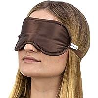 Jasmine Silk Luxus 100% Seide Schlafmaske Augenmaske Reisen Silk eye mask - Schokolade preisvergleich bei billige-tabletten.eu