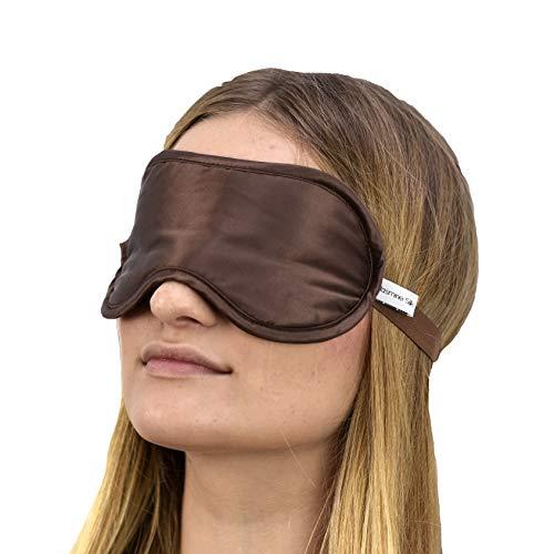 Jasmine Silk Luxus 100% Seide Schlafmaske Augenmaske Reisen Silk eye mask - Schokolade -