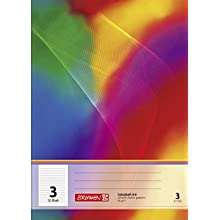 Brunnen – 104430302 School Notebook A4 32 Pages Ruled line Style 3, 3)