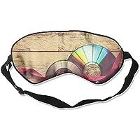 Eye Mask Eyeshade Disc Red Ribbon Sleeping Mask Blindfold Eyepatch Adjustable Head Strap preisvergleich bei billige-tabletten.eu