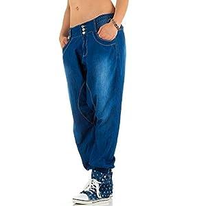Damen Jeans, USED LOOK HÜFT BOYFRIEND HAREMS JEANS, KL-J-S-869