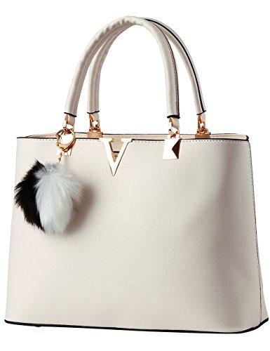 Menschwear Damen Handtasche Marken Handtaschen Elegant Taschen Shopper Reissverschluss Frauen Handtaschen Weiß
