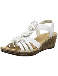 Rieker 62461 Damen Offene Sandalen mit Keilabsatz