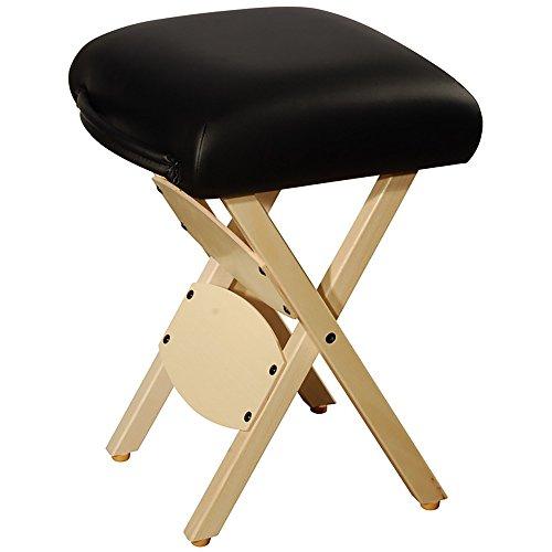 MT Master Massage Arbeitshocker Klapphocker für Massageliege Hocker America Brand (Schwarz)