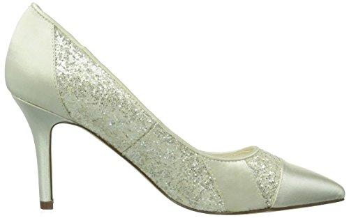 Menbur Wedding Marta, Scarpe col tacco da sposa Donna Avorio (Elfenbein (Ivory 04))