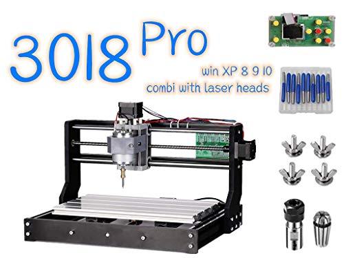 3018 Pro CNC Machine de Gravure laser engraving machine, TOPQSC GRBL Router Graveuse 3 Axe Plastique Acrylique Bois PVC 300x180x45mm