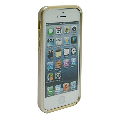 JNTworld gloss lumineux protection populaire double couche iPhone 5C Coque, blanc or