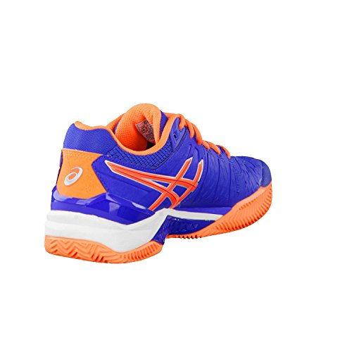 Asics Gel-resolution 6 Clay Herren Tennisschuhe Blue/Flash Orange/Silver