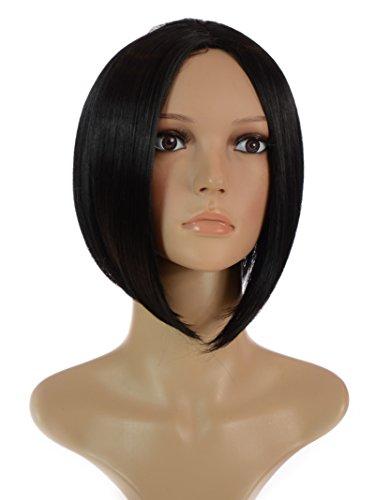 Hair By MissTresses Vicky Victoria Beckham Posh Spice seitenverkehrt Bob Stil Perücke, schwarz