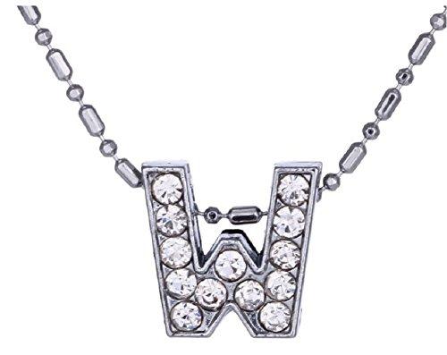 Inception Pro Infinite Alphabet Buchstaben Halskette - Erste Namen - Name Tag - Geburtstag - W