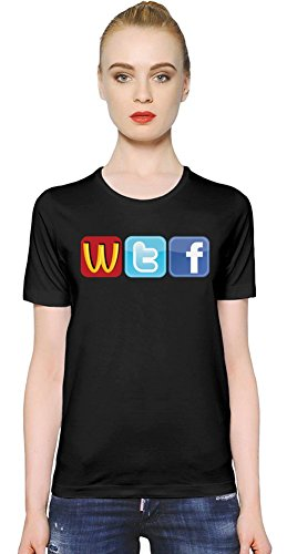 Logo Fun WTF McDonalds Twitter Facecbook Womens T-shirt XX-Large
