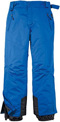 Herren Skihose Schneehose Snowboardhose Winterhose Funktional (52, Blau)