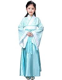 b6cff836bcd Xinvivion Style Chinois Hanfu Robe - Ancien Traditionnel Vêtements Élégant  Rétro Performance Costume ...