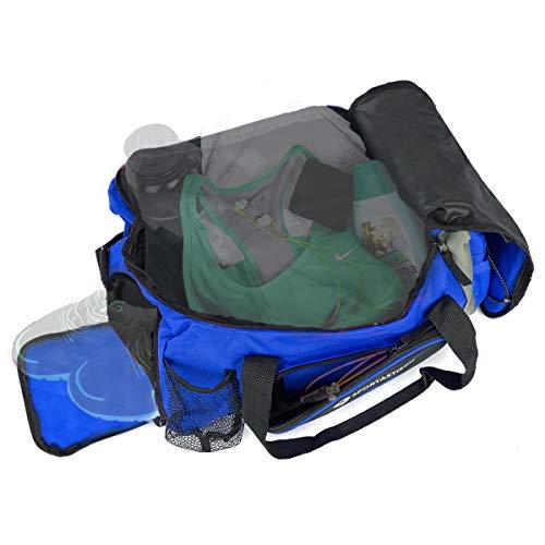"""VERGLEICHSSIEGER: Outdoor Sporttasche """"Sporty Bag"""" mit Schuhfach :: BLAU :: Medium 32L groß :: für Männer, Damen und Kinder ( Jungs & Mädchen) :: 3 Jahre Garantie"""