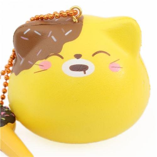 Mini-Squishy gelbes Marshmallow-Kätzchen mit Aroma von Puni Maru (Katze Maru)