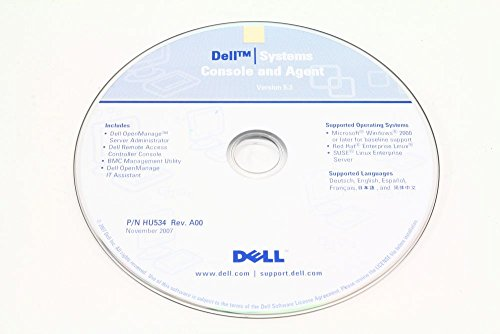 Dell P/N HU534 OpenManage Systems Console and Agent Version 5.3 Rev. A00 (Generalüberholt) (Für Dell Usb-wireless-adapter)