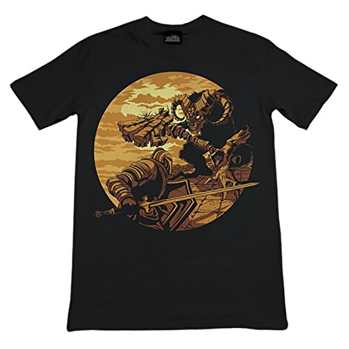 Dark-Souls-Monster-Axe-T-Shirt-Baumwolle-schwarz
