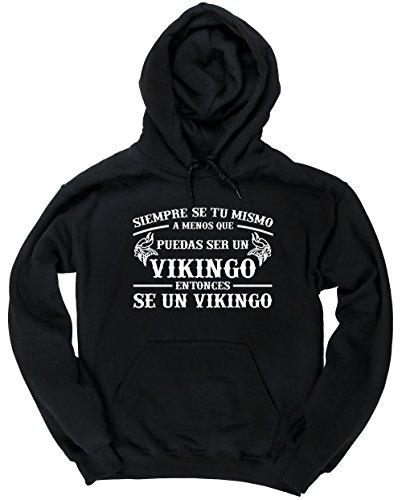 HippoWarehouse Siempre sé tú mismo a menos que puedas ser un vikingo entonces sé un vikingo jersey sudadera con capucha suéter derportiva unisex