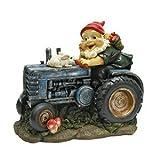 Design Toscano QL1530256 Gnome Statue Jardin - Lapin à bord Garden Gnome Tracteur - Lawn Gnome