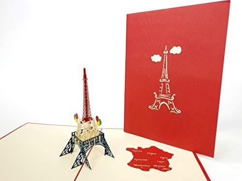 Eiffel-Turm Paris 3D Pop-up-Grußkarten für Jahrestag, Baby-Geburtstag, Ostern, Halloween, Muttertag, Vatertag, Neues Zuhause, Neujahr, Thanksgiving, Valentinstag, Hochzeit, Weihnachten