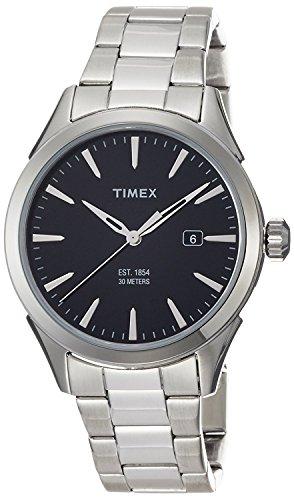Timex TW2P77300 Orologio da Uomo, Quadrante Analogico da Uomo, Cinturino in Acciaio Inox, Nero/Argento