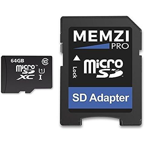Memzi Pro 64GB Classe 1090MB/s scheda di memoria Micro SDXC con adattatore SD per SunnyCam Occhiali o registrazione video Azione Fotocamera Occhiali - Azione Occhiali Sportivi